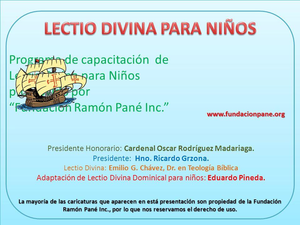 Programa de capacitación de Lectio Divina para Niños promovido por Fundación Ramón Pané Inc.