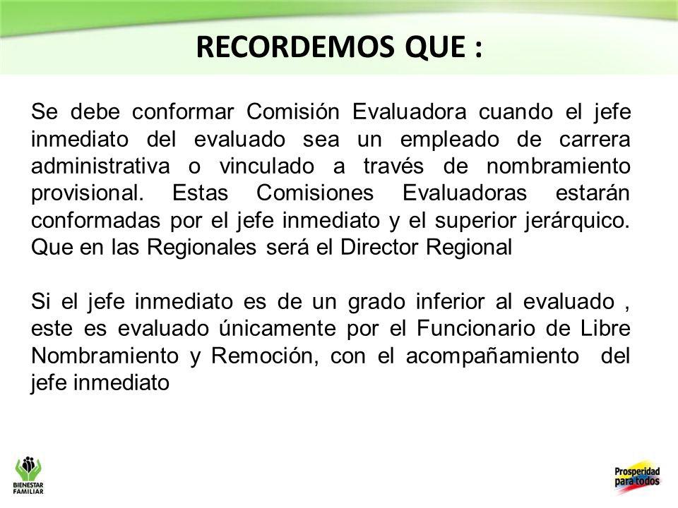 Se debe conformar Comisión Evaluadora cuando el jefe inmediato del evaluado sea un empleado de carrera administrativa o vinculado a través de nombramiento provisional.