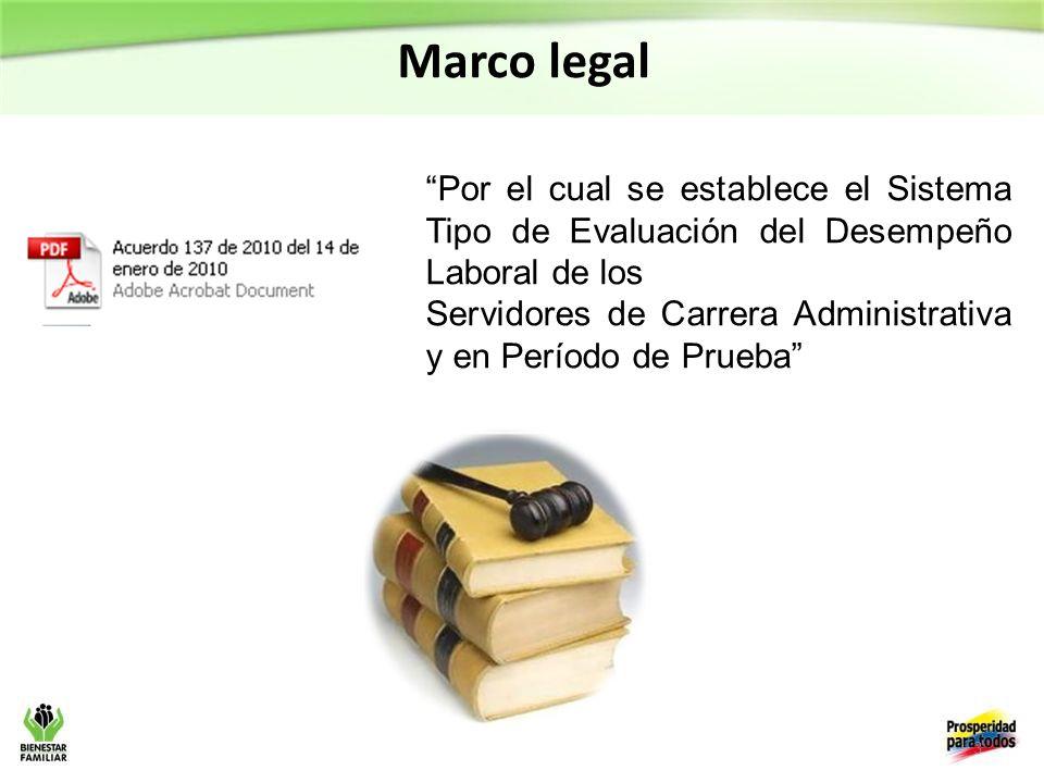 3 Marco legal Por el cual se establece el Sistema Tipo de Evaluación del Desempeño Laboral de los Servidores de Carrera Administrativa y en Período de Prueba