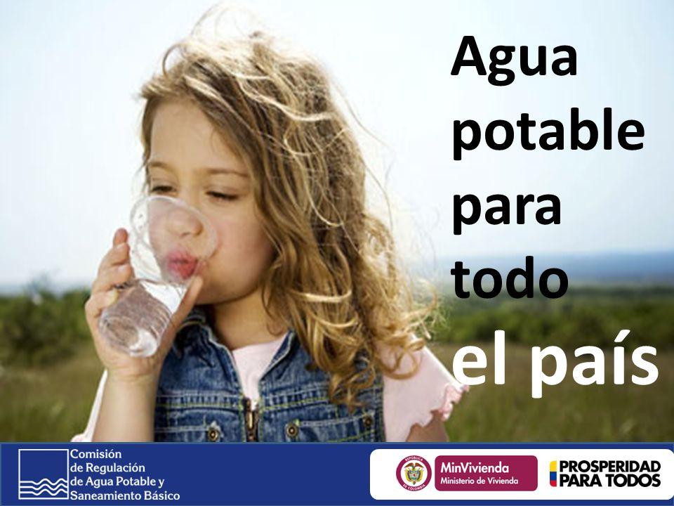 Agua potable para todo el país