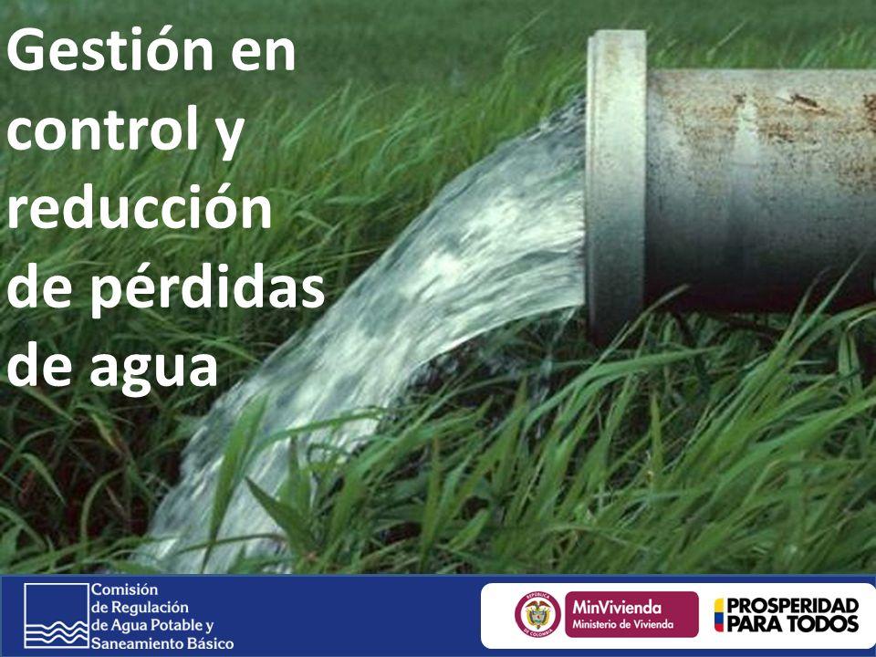 Gestión en control y reducción de pérdidas de agua