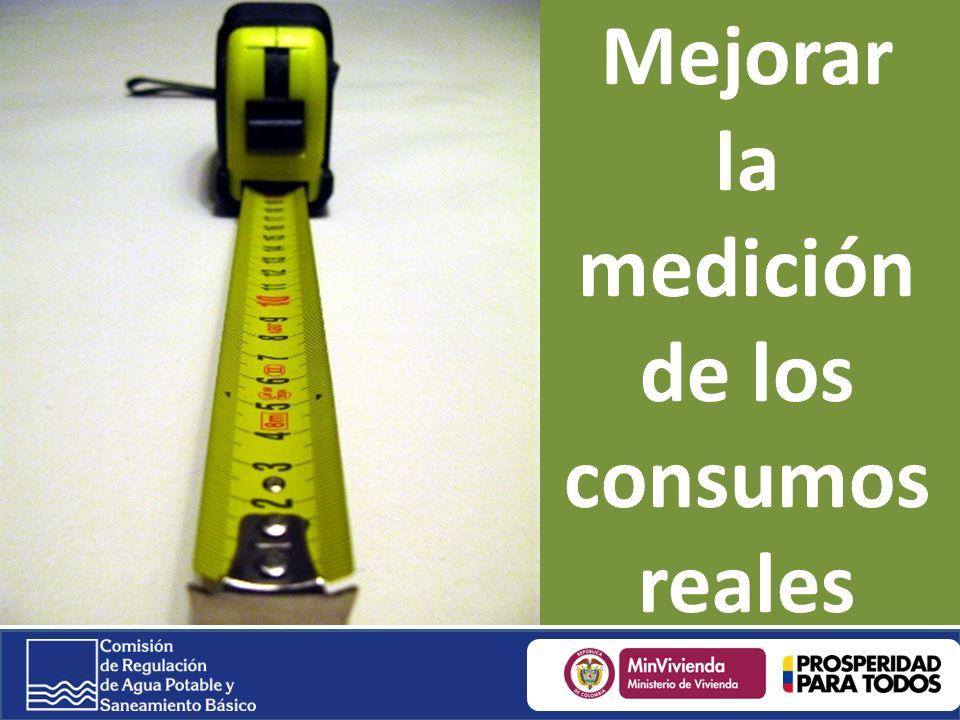 Mejorar la medición de los consumos reales