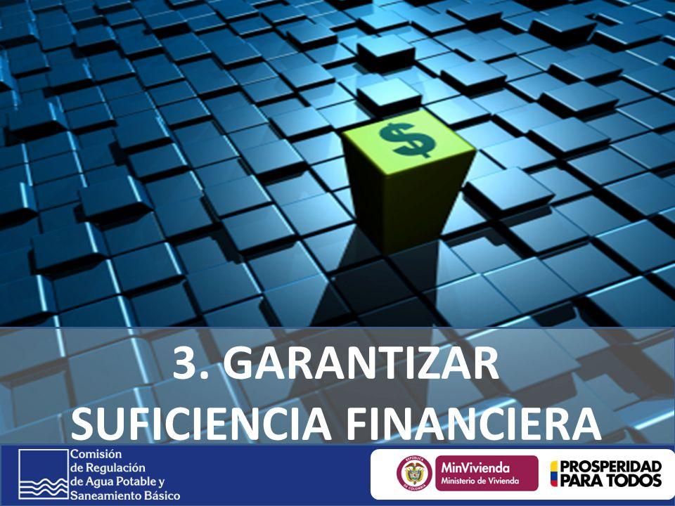 3. GARANTIZAR SUFICIENCIA FINANCIERA