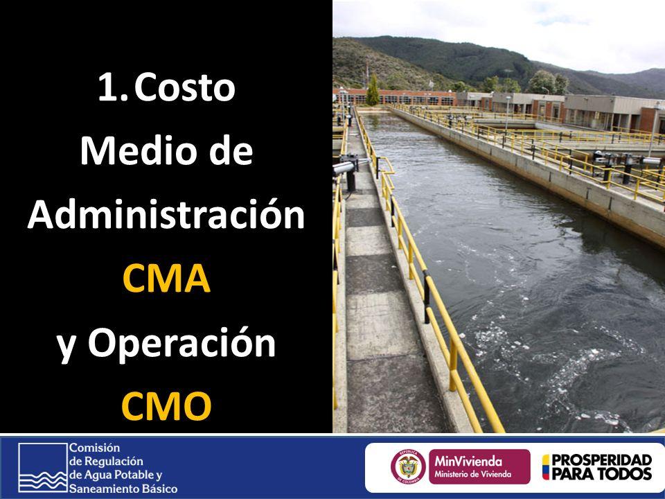 1.Costo Medio de Administración CMA y Operación CMO