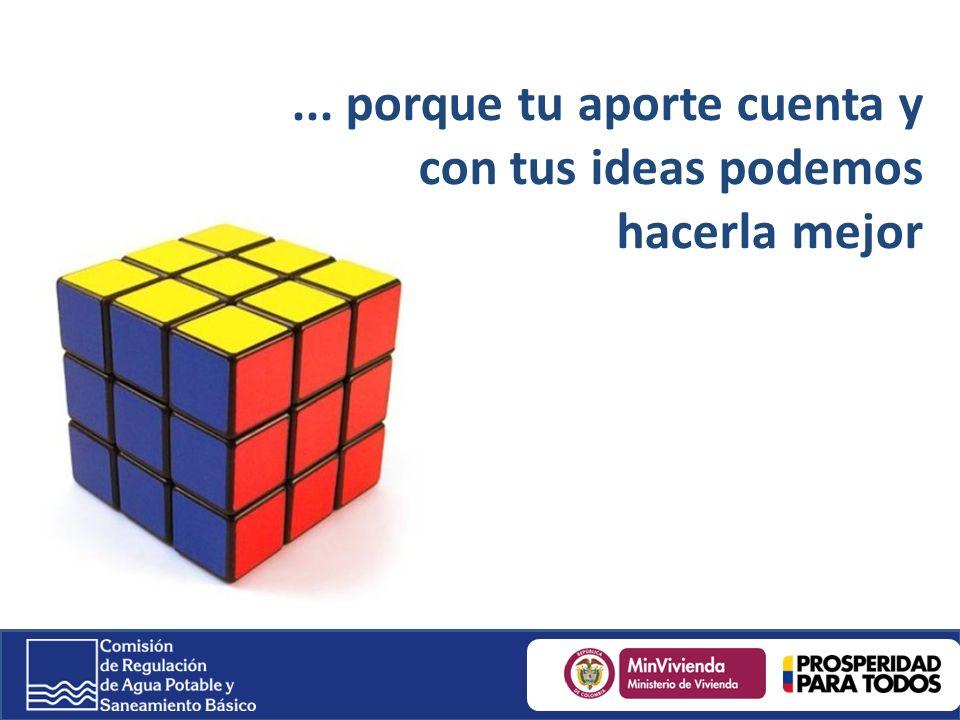 ... porque tu aporte cuenta y con tus ideas podemos hacerla mejor