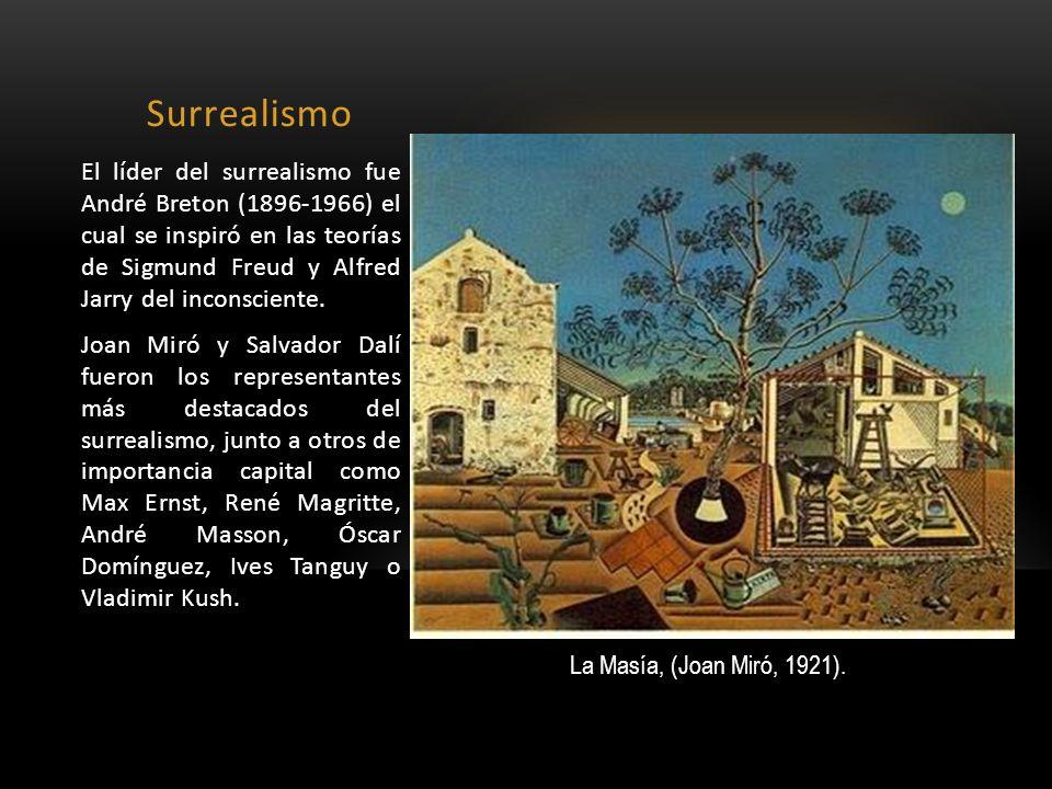 Surrealismo El líder del surrealismo fue André Breton (1896-1966) el cual se inspiró en las teorías de Sigmund Freud y Alfred Jarry del inconsciente.
