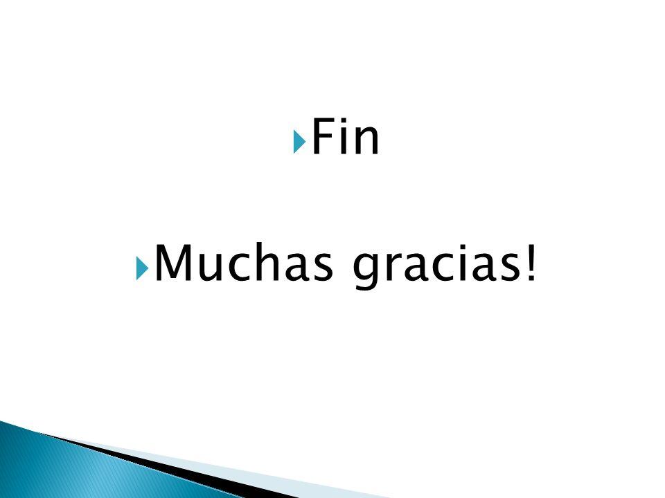 Fin Muchas gracias!