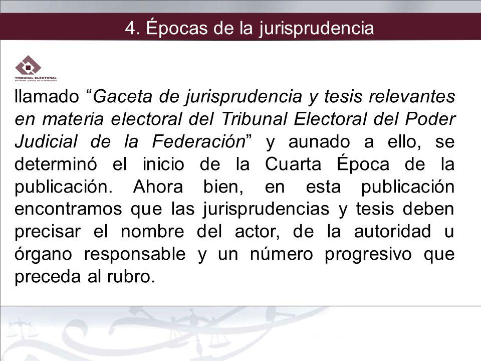 llamado Gaceta de jurisprudencia y tesis relevantes en materia electoral del Tribunal Electoral del Poder Judicial de la Federación y aunado a ello, s