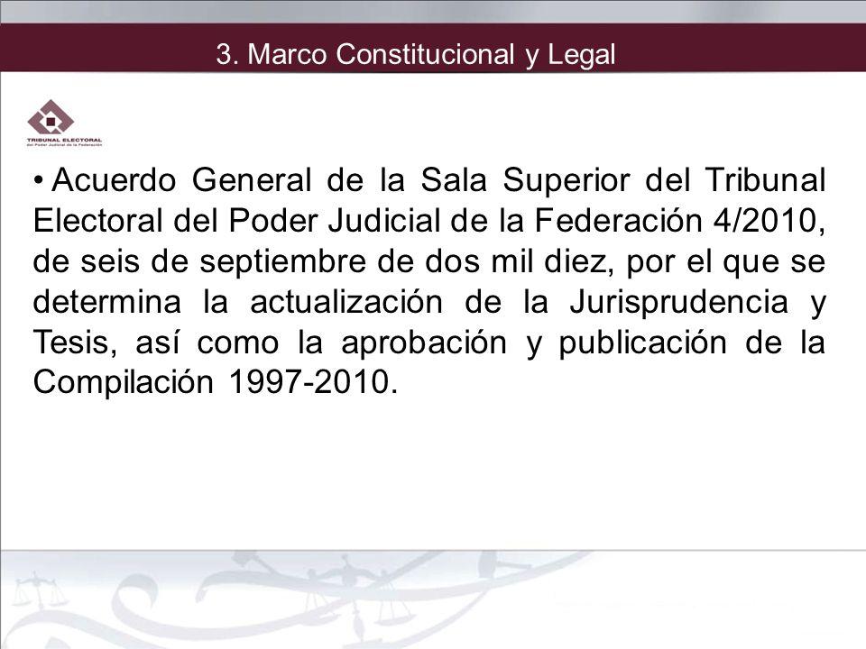 Acuerdo General de la Sala Superior del Tribunal Electoral del Poder Judicial de la Federación 4/2010, de seis de septiembre de dos mil diez, por el q