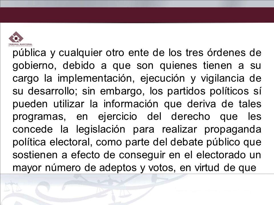 pública y cualquier otro ente de los tres órdenes de gobierno, debido a que son quienes tienen a su cargo la implementación, ejecución y vigilancia de