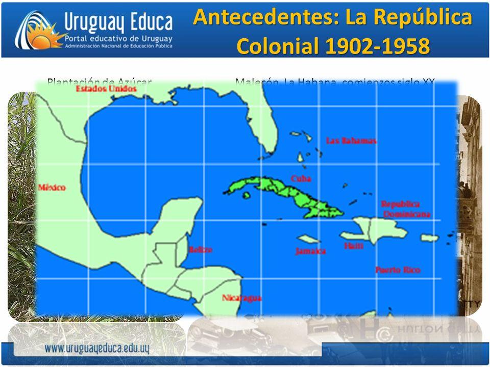 La burguesía cubana Sus intereses se desarrollaron ligados estrechamente con las inversiones norteamericanas.