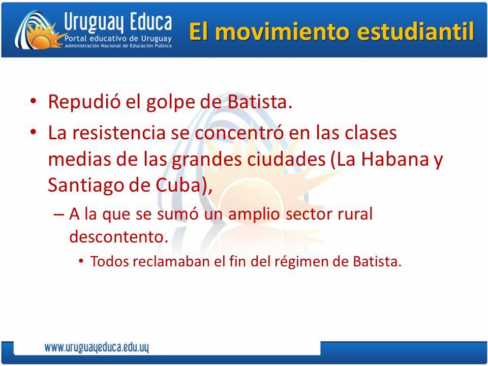 El movimiento revolucionario Comenzó el 26 de julio de 1953 con el intento del asalto al cuartel de Moncada en Santiago de Cuba.