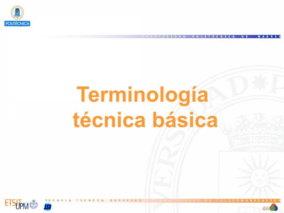Terminología técnica básica