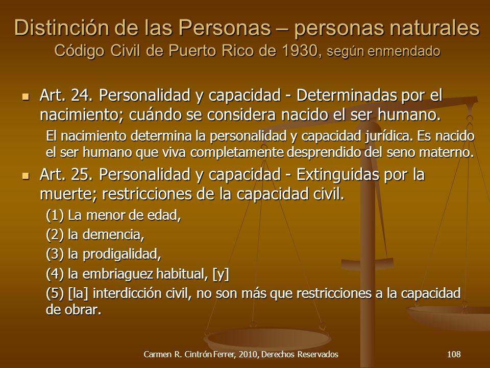 Art. 24. Personalidad y capacidad - Determinadas por el nacimiento; cuándo se considera nacido el ser humano. Art. 24. Personalidad y capacidad - Dete