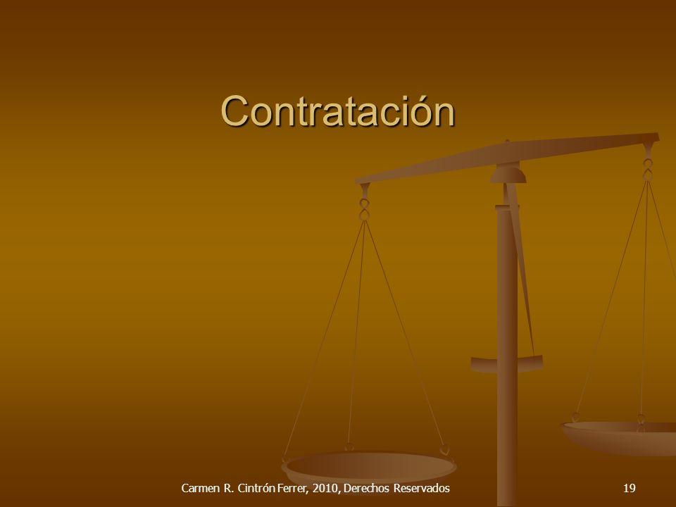 Contratación Carmen R. Cintrón Ferrer, 2010, Derechos Reservados19