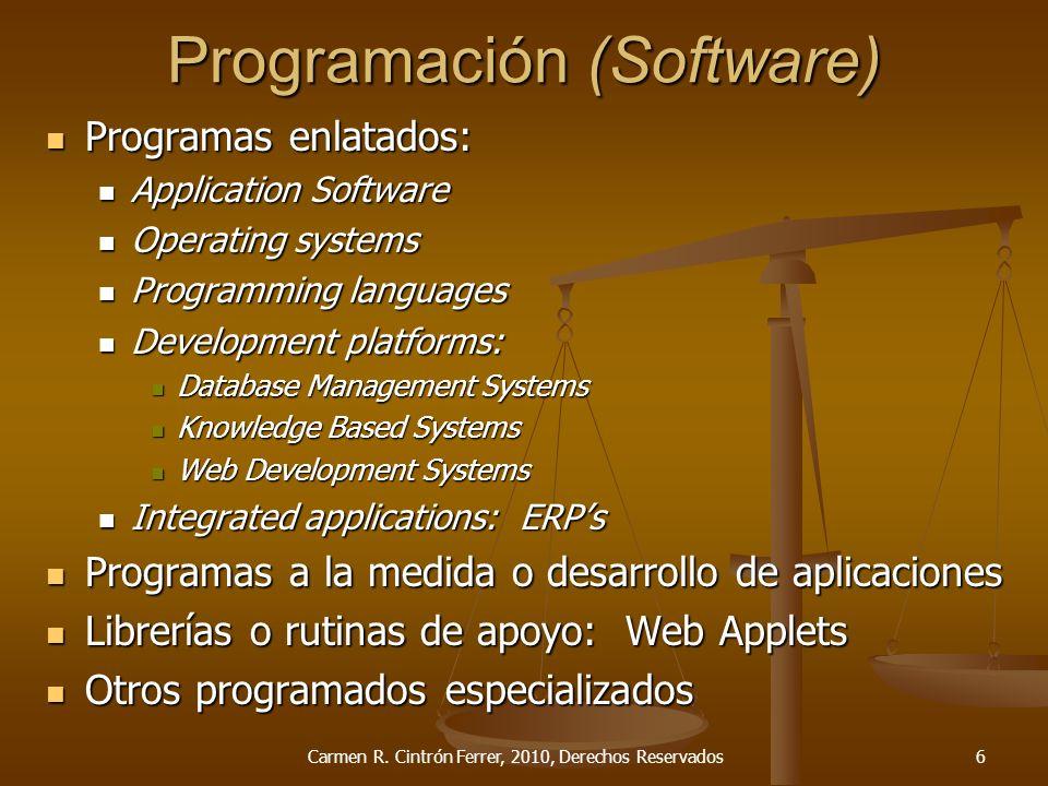 Cláusulas por tipo de Contrato Desarrollo de programación ( Software development) Carmen R.