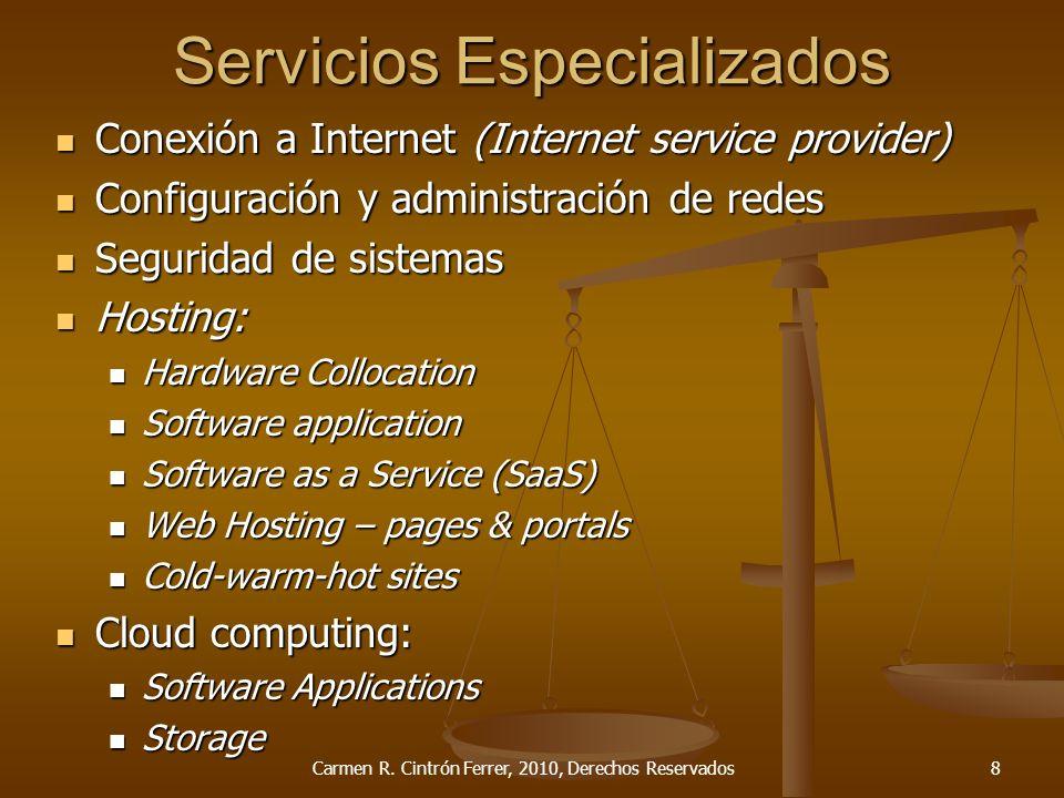 Servicios Especializados Conexión a Internet (Internet service provider) Conexión a Internet (Internet service provider) Configuración y administració