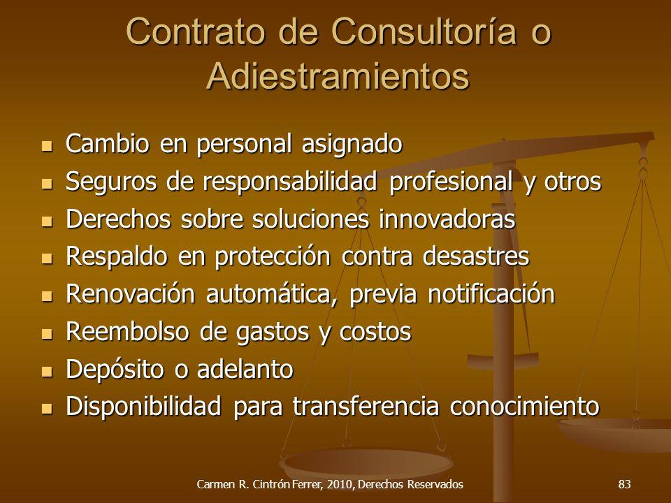 Cambio en personal asignado Cambio en personal asignado Seguros de responsabilidad profesional y otros Seguros de responsabilidad profesional y otros