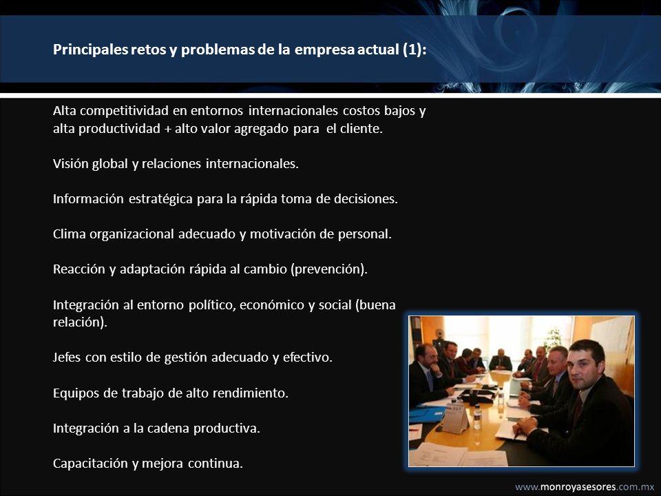 Principales retos y problemas de la empresa actual (2): Alianzas estratégicas.