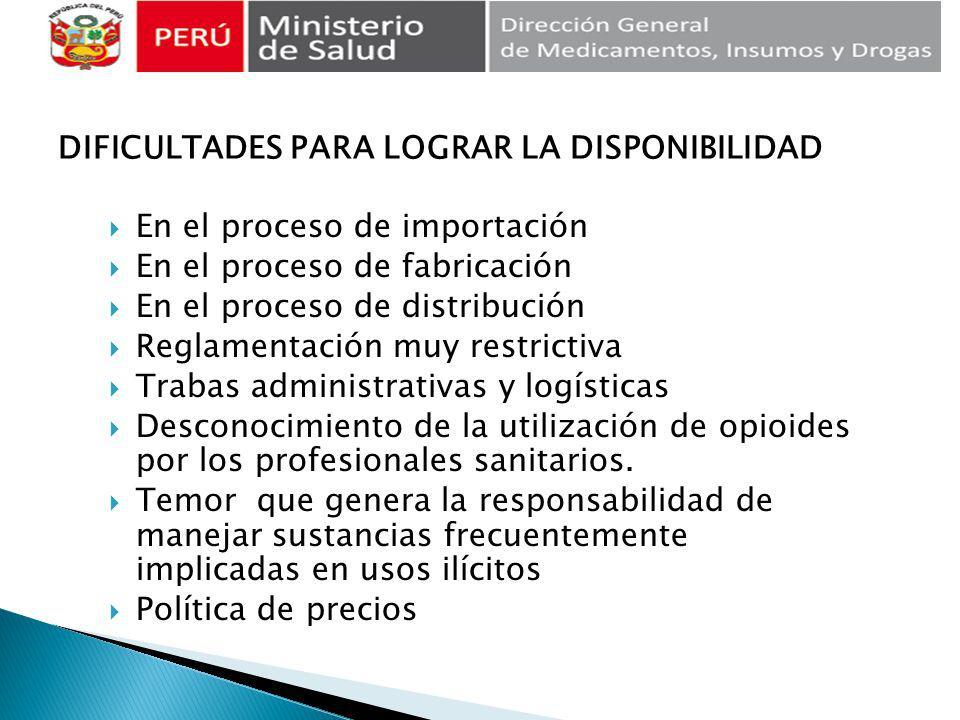 En el proceso de importación En el proceso de fabricación En el proceso de distribución Reglamentación muy restrictiva Trabas administrativas y logíst
