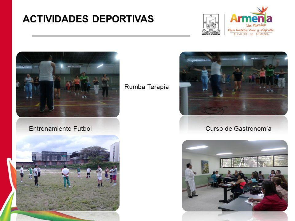 Entrenamiento Futbol Rumba Terapia Curso de Gastronomía ACTIVIDADES DEPORTIVAS