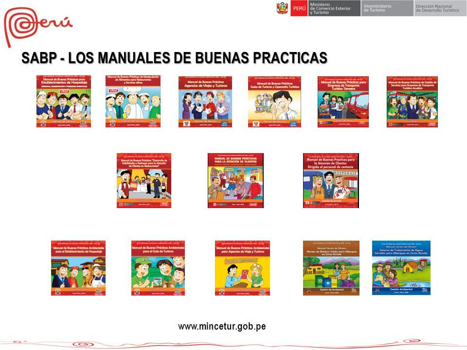 SABP - LOS MANUALES DE BUENAS PRACTICAS www.mincetur.gob.pe