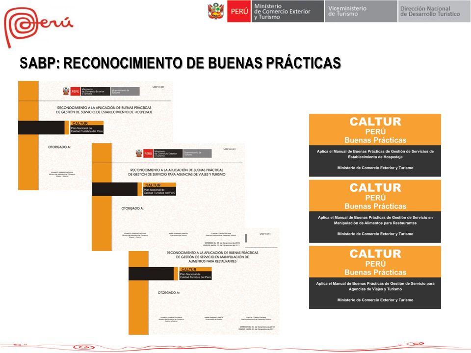 ABP: RECONOCIMIENTO DE BUENAS PRÁCTICAS SABP: RECONOCIMIENTO DE BUENAS PRÁCTICAS
