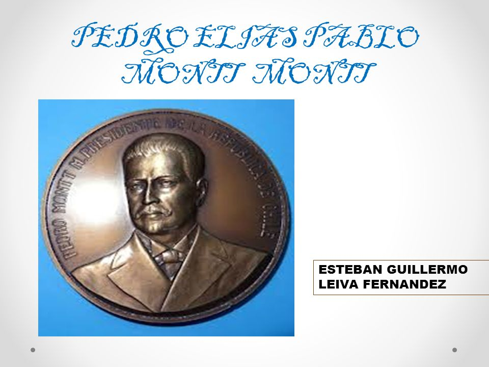 JUAN ESTEBAN MONTERO RODRIGUEZ NACIÓ EN SANTIAGO DE CHILE EL 12 DE FEBRERO DE 1879 SUS PADRES FUERON BENJAMÍN MONTERO Y EUGENIA RODRÍGUEZ.