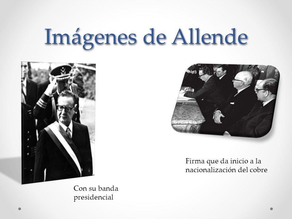 Salvador Guillermo Allende Gossens Salvador Guillermo Allende Gossens Periodo de mandato: 3 de noviembre de 1970 al 11 de septiembre de 1973. Fecha de