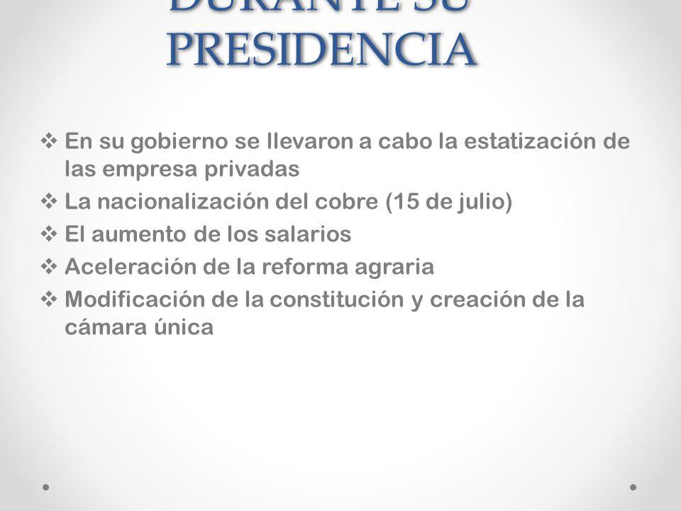 Imágenes de Allende. Su primer gabinete en 1970 Allende votando en las elecciones parlamentarias de 1973