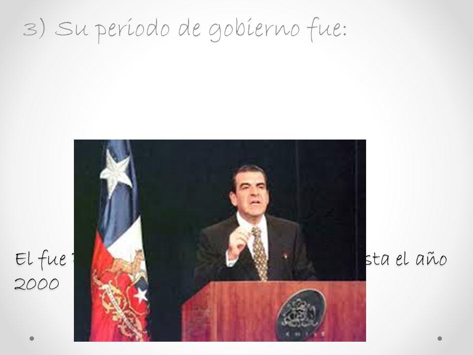 2) Fecha de Nacimiento y Lugar : El Presidente Frei Nació el 24 de junio de 1942. El nació en Santiago de Chile.