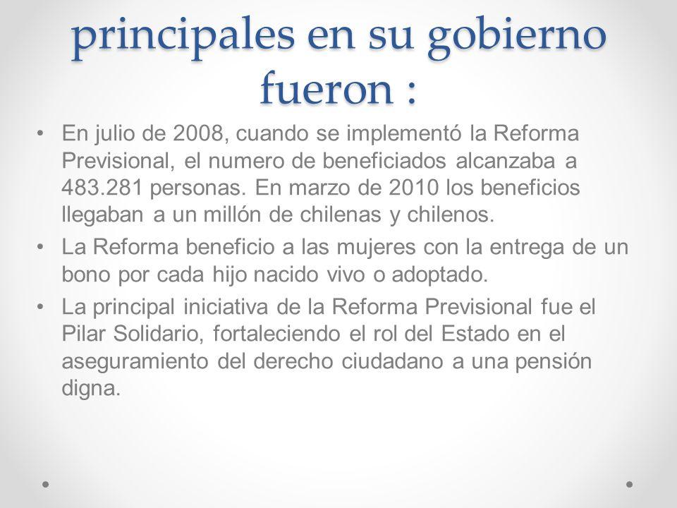 Periodo del Gobierno de MICHELLE BACHELET Veronica Michelle Bachelet Jeria estuvo en su gobierno desde el 11 de marzo del 2006 hasta el 11 de marzo de