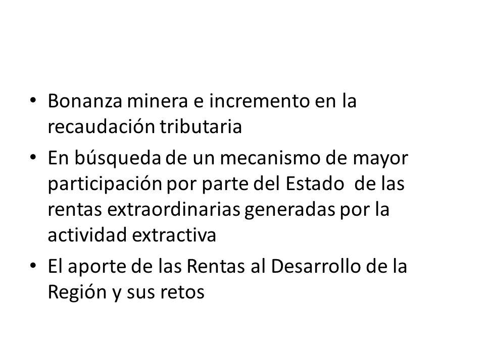 Por otro lado, de acuerdo, al estudio de la Sociedad Nacional de Minería, Petróleo y Energía (SNMEP) La Tributación Minera en el Perú: contribución a la carga tributaria y fundamentos conceptuales.