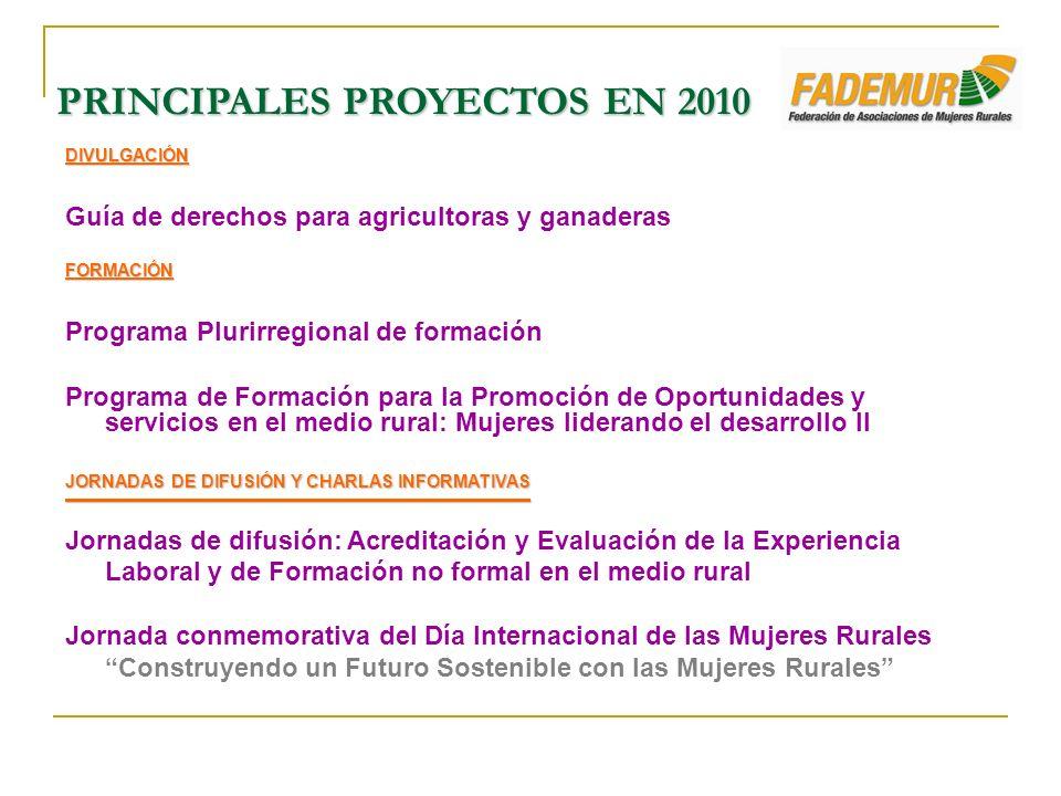 DIVULGACIÓN Guía de derechos para agricultoras y ganaderasFORMACIÓN Programa Plurirregional de formación Programa de Formación para la Promoción de Op