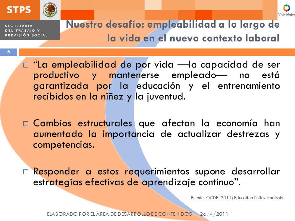 Esencialmente… Empleabilidad Empleabilidad se refiere al trabajo y fundamentalmente a la habilidad para estar empleado.