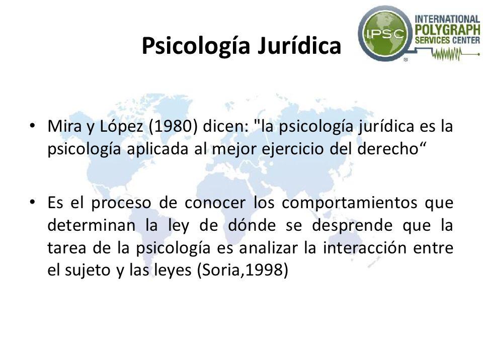 Psicología Jurídica Mira y López (1980) dicen: