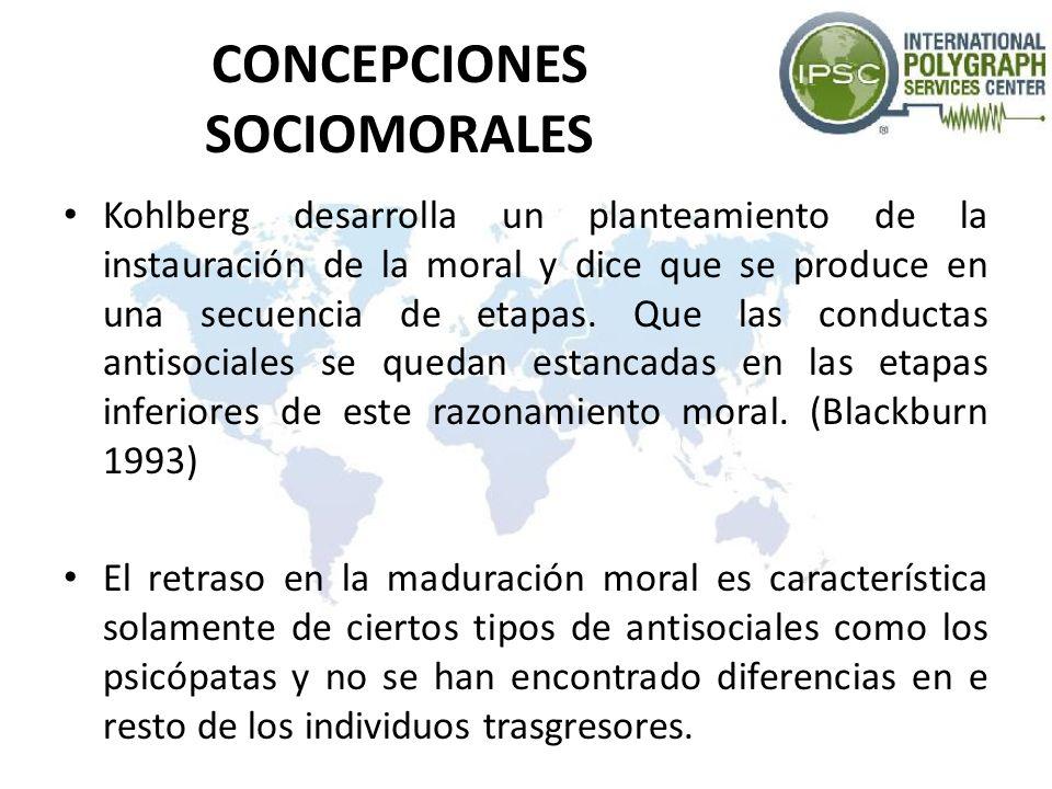CONCEPCIONES SOCIOMORALES Kohlberg desarrolla un planteamiento de la instauración de la moral y dice que se produce en una secuencia de etapas. Que la
