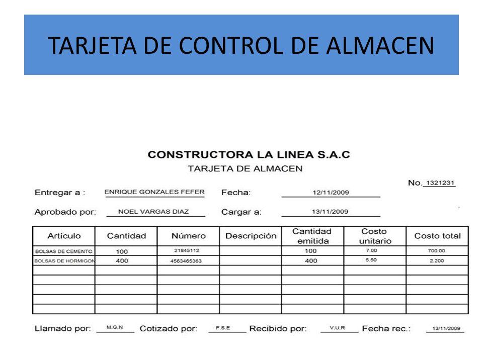 VALE DE SALIDA DE ALMACEN Documento que se utiliza para llevar un control de entradas y salidas de un almacén este puede equivaler a uno o varios productos.