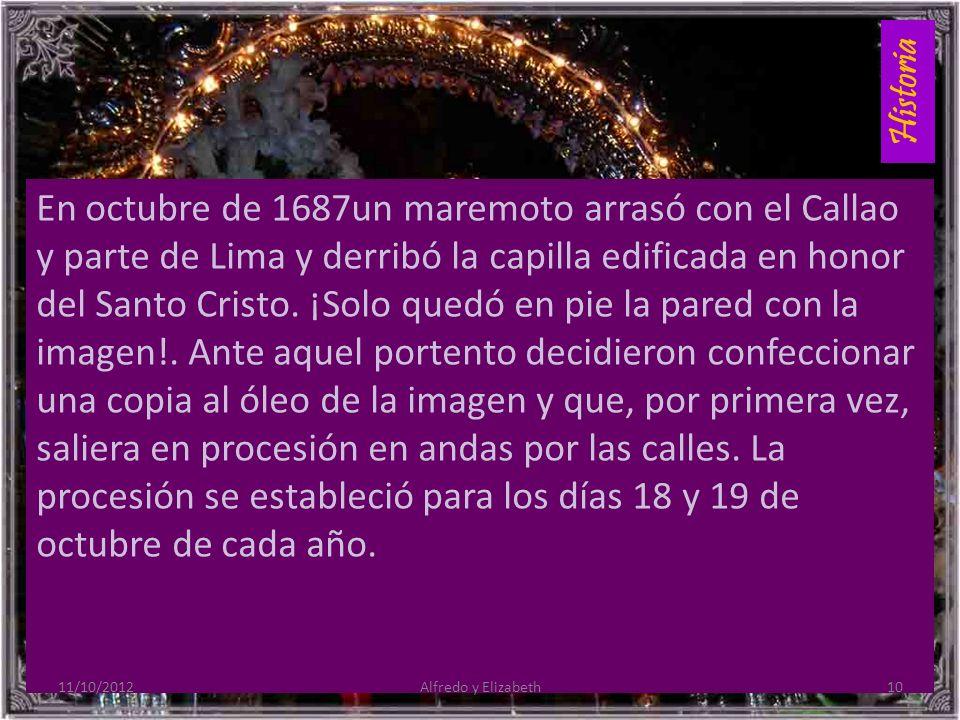 Historia En octubre de 1687un maremoto arrasó con el Callao y parte de Lima y derribó la capilla edificada en honor del Santo Cristo.