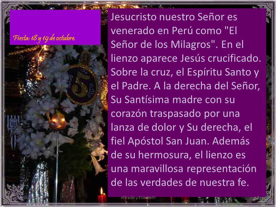 Se le llama también el Cristo Moreno y el Cristo de Pachacamilla Cada año las multitudes de todas las razas y condiciones sociales celebran juntas la procesión del Señor de los Milagros, no solo en Perú sino en donde quiera que se encuentran comunidades peruanas.