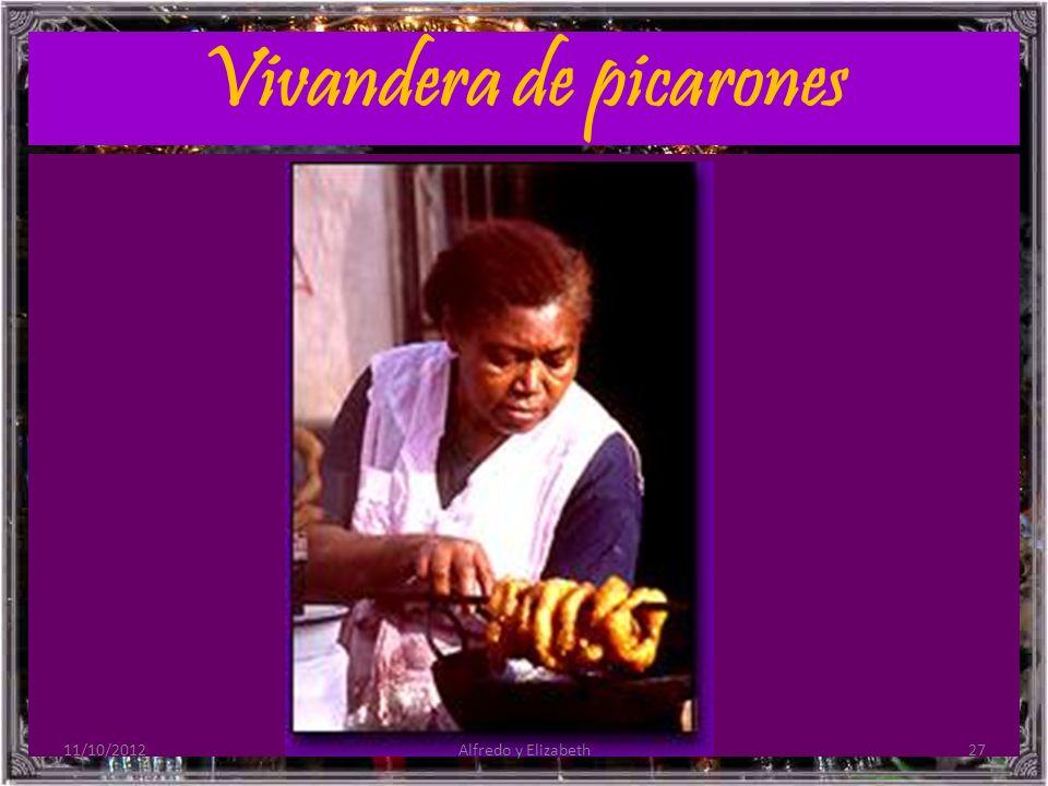 Vivandera de picarones 11/10/201227Alfredo y Elizabeth