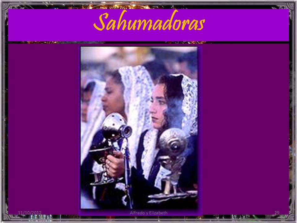 Sahumadoras 11/10/201229Alfredo y Elizabeth