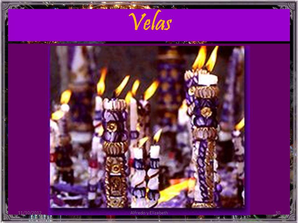 Velas 11/10/201230Alfredo y Elizabeth