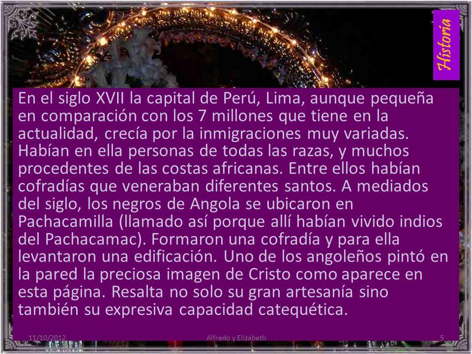 Historia En el siglo XVII la capital de Perú, Lima, aunque pequeña en comparación con los 7 millones que tiene en la actualidad, crecía por la inmigraciones muy variadas.