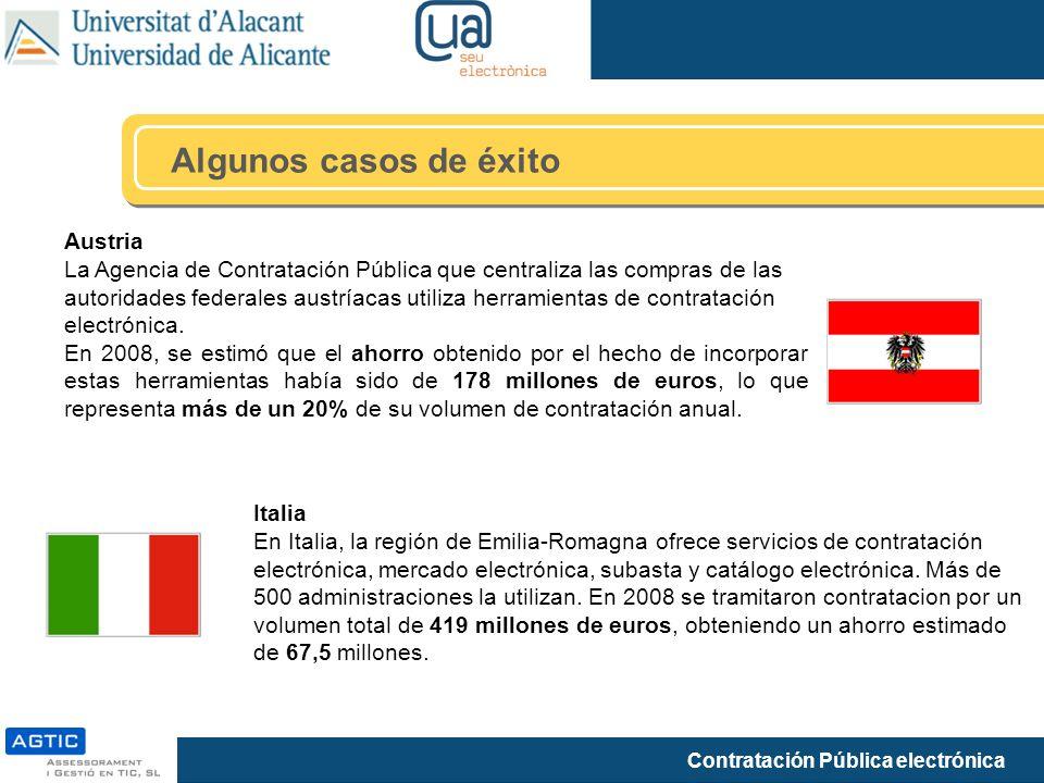 Contratación Pública electrónica Algunos casos de éxito Austria La Agencia de Contratación Pública que centraliza las compras de las autoridades feder