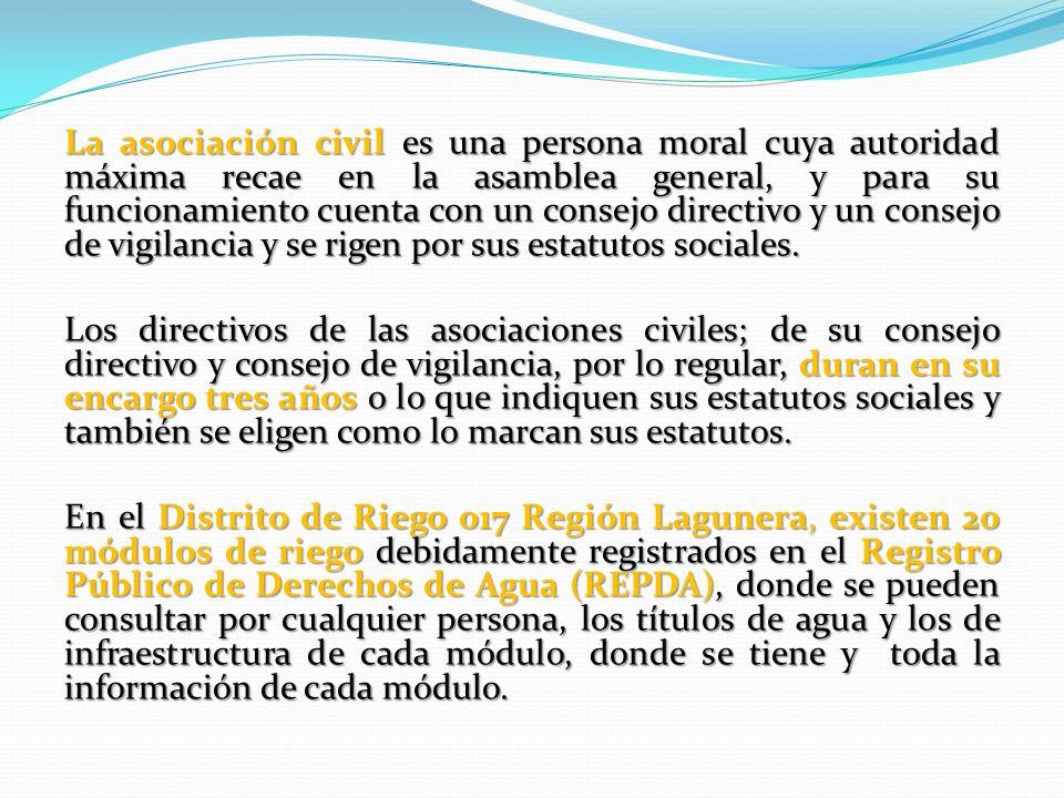 La asociación civil es una persona moral cuya autoridad máxima recae en la asamblea general, y para su funcionamiento cuenta con un consejo directivo