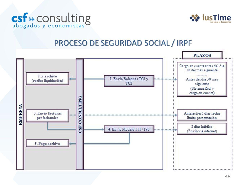 36 PROCESO DE SEGURIDAD SOCIAL / IRPF