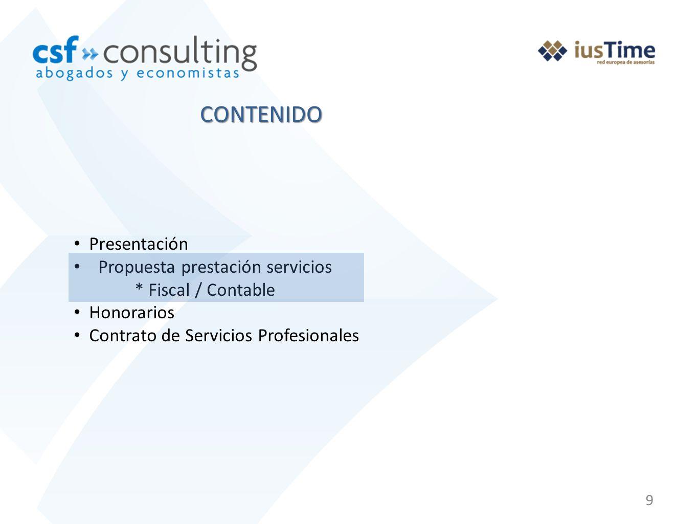 20 PROPUESTA PRESTACIÓN DE SERVICIOS PREMIUM A continuación le presentamos nuestra propuesta que comprende las siguientes prestaciones.