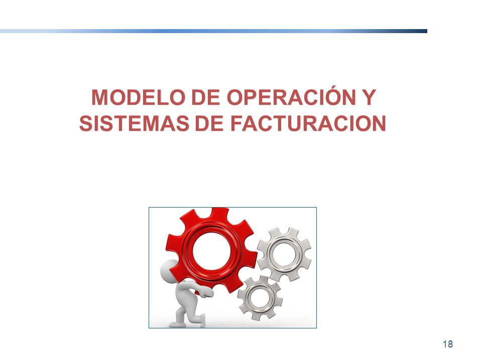 MODELO DE OPERACIÓN Y SISTEMAS DE FACTURACION 18