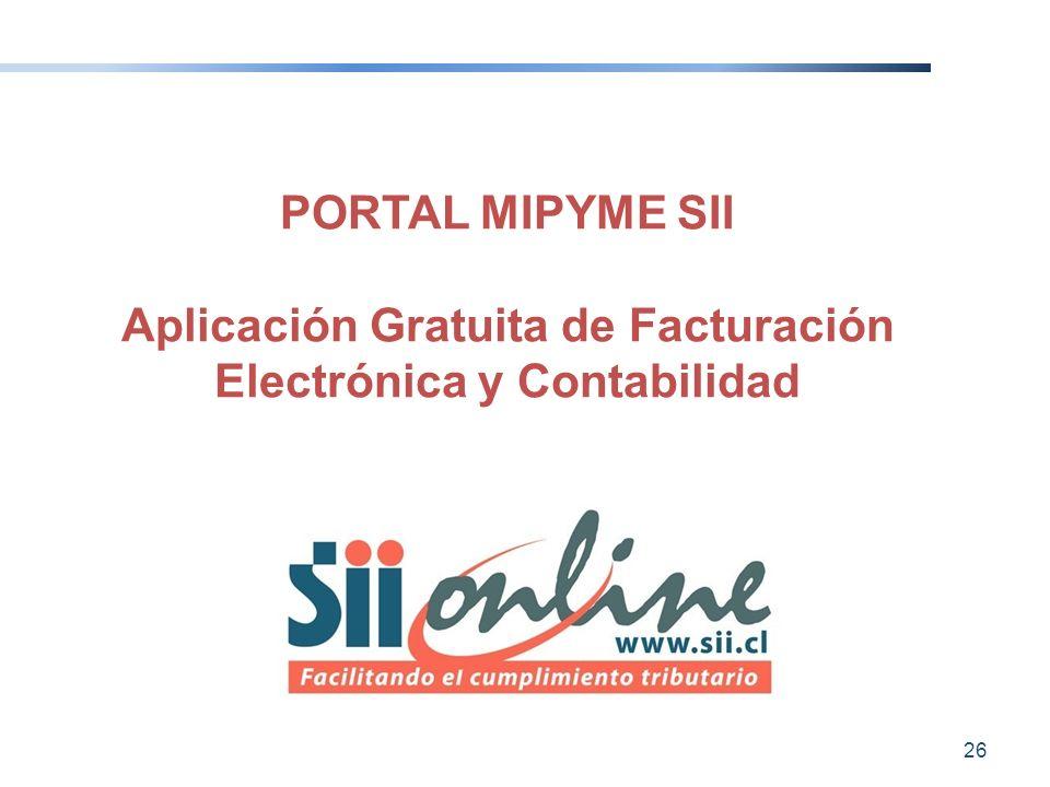 PORTAL MIPYME SII Aplicación Gratuita de Facturación Electrónica y Contabilidad 26